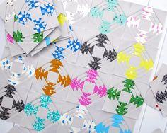 Image of Printshop Pineapple Block - Foundation Paper Piecing Pattern only.