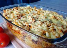 Bolońska zapiekanka makaronowa z pieczarkami Potato Salad, Cauliflower, Macaroni And Cheese, Hamburger, Food And Drink, Pizza, Snacks, Vegetables, Ethnic Recipes