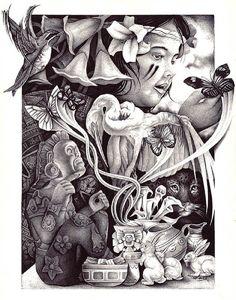 Dreams of Freedom by Spyder Aztec Tribal Tattoo Canvas Fine Art Print – moodswingsonthenet