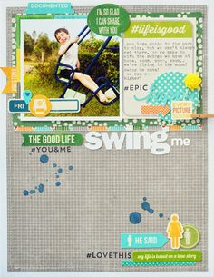 #papercraft #Scrapbook #layout....Our Little Family...