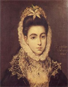 El Greco, Lady with a Flower in Her Hair, c. 1595