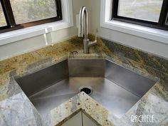 Corner Kitchen Sink Hood Filters 15 Cool Designs Home Einzelne Schussel Benutzerdefinierte Edelstahl Kuchenspulen