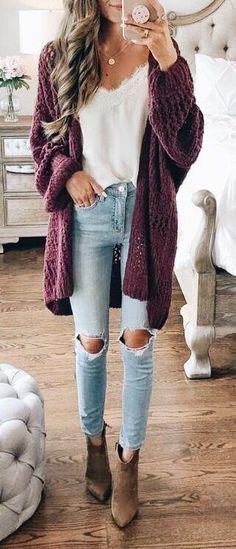 171361d58 Estilo De Outono, Vestidos De Bolinhas, Moda Outono Inverno, Calça Jeans,  Inspiração
