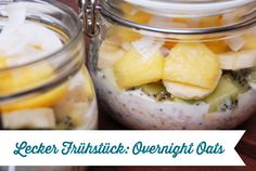 Delicious and healthy breakfast with overnight oats - Ms. Thread - Delicious and healthy breakfast with overnight oats – Ms. Brunch Recipes, Breakfast Recipes, Porridge Oats, Dried Beans, Health Breakfast, Breakfast Casserole, Smoothies, Food And Drink, Low Carb