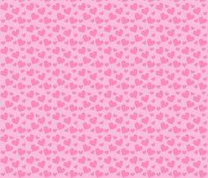 Yorkie - Hearts, matching fabric by sherry_savannah on Spoonflower - custom fabric