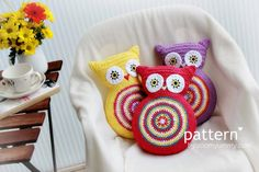 Crochet Pattern Crochet Owl Cushion by ZoomYummy on Etsy, $4.90