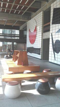 香川県庁 丹下健三 壁絵 猪熊弦一郎