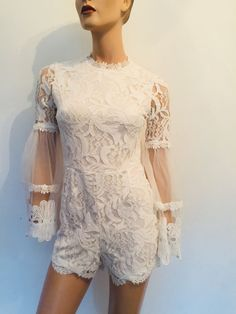 8f7c920cfa3 BELONGED TO KATIE PRICE JYY LONDON IVORY WHITE LACE PLAYSUIT UK 8  fashion   clothing  shoes  accessories  womensclothing  jumpsuitsrompers (ebay link)