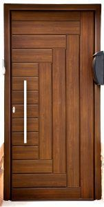 Artistic Wooden Door Design Ideas To Try Right Now 44 House Main Door Design, Wooden Front Door Design, Home Door Design, Bedroom Door Design, Door Design Interior, Wooden Front Doors, The Doors, Small House Design, Frosted Glass Interior Doors