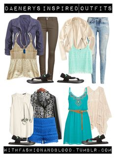 """""""Daenerys inspired outfits with requested sandals"""" by withfashionandblood ❤ liked on Polyvore featuring ONLY, maurices, H&M, MANGO, sanuk, Aéropostale and Warehouse"""