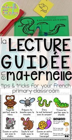 La lecture guidée en maternelle - Guided Reading in a primary French classroom (with a Freebie! French Teaching Resources, Teaching French, Teaching Ideas, Teaching Spanish, Spanish Activities, Work Activities, Language Activities, French Classroom, Primary Classroom