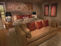 Looking for Contemporary Bedroom and Master Bedroom ideas? Browse Contemporary Bedroom and Master Bedroom images for decor, layout, furniture, and storage inspiration from HGTV. Cozy Bedroom, Dream Bedroom, Master Bedroom, Bedroom Decor, Bedroom Ideas, Headboard Ideas, Bedroom Designs, Asian Bedroom, Bedroom Photos