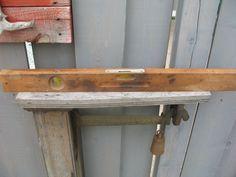 Vintage niveau de bois pour utilité ou décor 1940/50 de la boutique NorDass sur Etsy