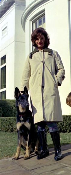 Jackie Kennedy with Clipper.