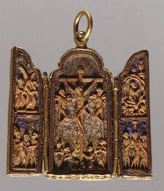Pendant Triptych (with Scenes of the Passion) [Mexican] (10.141.2) | Heilbrunn Timeline of Art History | The Metropolitan Museum of Art