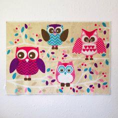 Owl Rug, Tree Branches, Purple, Pink, Playroom, Color Pop, Color Schemes, Kids Room, Viola
