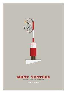 Mont Ventoux A3 Print Cycling Poster