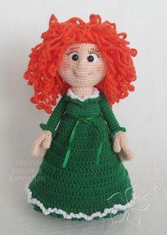 Doll Meydi, crocheted toy