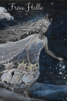 Frau Holle is much more than just a fairy tale . - Frau Holle is much more than just a figure of the Brothers Grimm, she is an old, a really ancient g - Types Of Witchcraft, Green Witchcraft, Wiccan Decor, Magic Herbs, Green Magic, Asatru, Moon Goddess, Gebrüder Grimm, Winter Solstice