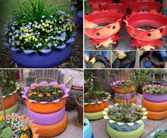 Flower Tyre Planter