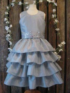 Silver flower girl dress.Winter wedding. by englaCharlottaShop, €45.00