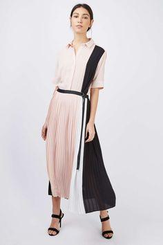 Pleated Midi Shirt Dress - Dresses - Clothing - Topshop