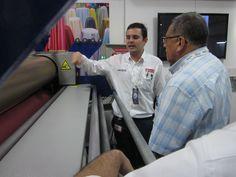El sistema de bondeo es ideal para el sector textil.  Aquí estamos en Colombiatex mostrando  las bondades a nuestros clientes.