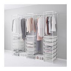 ALGOT Frame/mesh baskets/rod for frames, white C$244.94 - IKEA.ca #closet