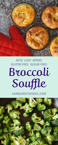 Low Carb Broccoli and Sausage Breakfast Soufflé - Carbs are the Devil
