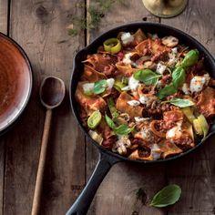 Snelle panlasagne met champignons — Receptenmaker