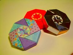 Origami Box Octagon Shape - YouTube