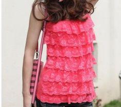 SO pretty!!! $4.32 Elegant Style Gallus Vest Watermelon Red