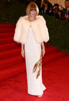 Anna Wintour wearing a #Schiaparelli inspired #Prada gown at the 2012 Met Costume Gala