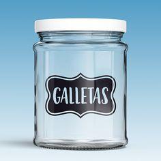 Vinilo para decorar frasco de cristal o tarro, jarra de cristal, limonadas, café. Printable Tags, Vinyl Cutter, Drink Bottles, Silhouette Cameo, Shot Glass, Dental, Stencils, Mason Jars, Lettering