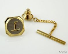 Tie Tack Pin with the initial L