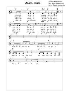 písničky pro děti - Hledat Googlem Music Sheets, Sheet Music, Larp, Taking Notes, Chart Songs
