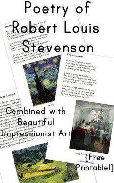 Poems of Robert Louis Stevenson: Volume 1 {free printable!} - Wildflower Ramblings