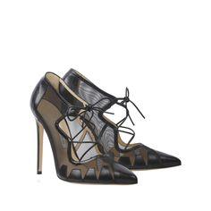 'Dekota' - Black Calf-Leather Geometric Panel Ankle Bootie – Bionda Castana Online Store
