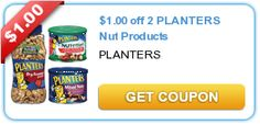 $1.00 off 2 PLANTERS Nut Products - Great to put out for those Holiday Parties!