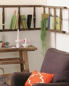 diy wall shelf reusing old ladder ideas bookshelf | Home decor