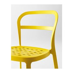 REIDAR Chair IKEA Chair made entirely of aluminium, can be outdoors all year round. The holes in the seat allow water to drain off.