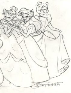 drawing art disney Rapunzel ariel jasmine Sketch cinderella ...