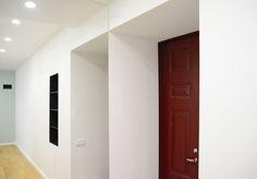 entryway | white | maroon | mint | apartment | interior | design