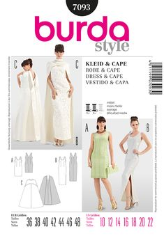 Good pattern for a 1930s look. Simplicity Creative Group - Burda Style Dress & Cape