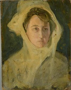 """""""Portrait of a Woman with a Head Scarf,"""" Henry Ossawa Tanner, oil on artist board, 13 x 10 Bill Hodges Gallery. African American Artist, American Artists, Henry Ossawa Tanner, Romare Bearden, European American, Black Artists, Auction, Fine Art, Portrait"""