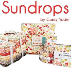 Sundrops by Corey Yoder from Moda is making us feel warm on this lovely Saturday!  This future collection is available for preorder now!  #sundrops #coreyyoder #coreyyoderfabric #showmethemoda #moda #modafabric