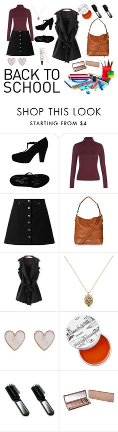 """""""Back to School"""" by kimberleyh20 ❤ liked on Polyvore featuring Geneve, New Look, Miss Selfridge, Topshop, Accessorize, too cool for school and Urban Decay"""