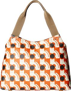 Orla Kiely Poppy Cat Print Classic Zip Shoulder Bag Persimmon One Size >>> You can get more details by clicking on the image.