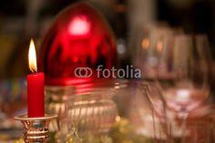 Weihnachtliche Tischdekoration, Kerzenlicht