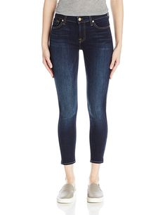 7 For All Mankind Women's Ankle Skinny Jean Dark Moonlight Bay 31 Current Fashion Trends, Latest Fashion For Women, Womens Fashion, Skinny Fit, Skinny Jeans, Stylish Jeans, Victoria Secret Fashion Show, Ankle Jeans, Stretch Denim